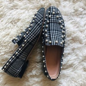 J. CREW Pearl Studded Loafers